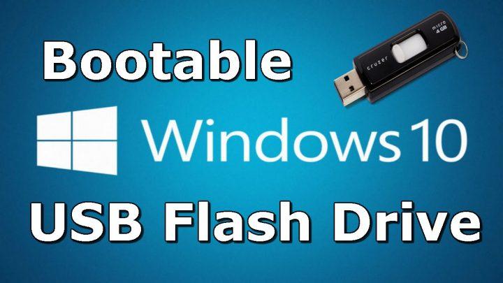 Widows 10 bootable USB flash drive